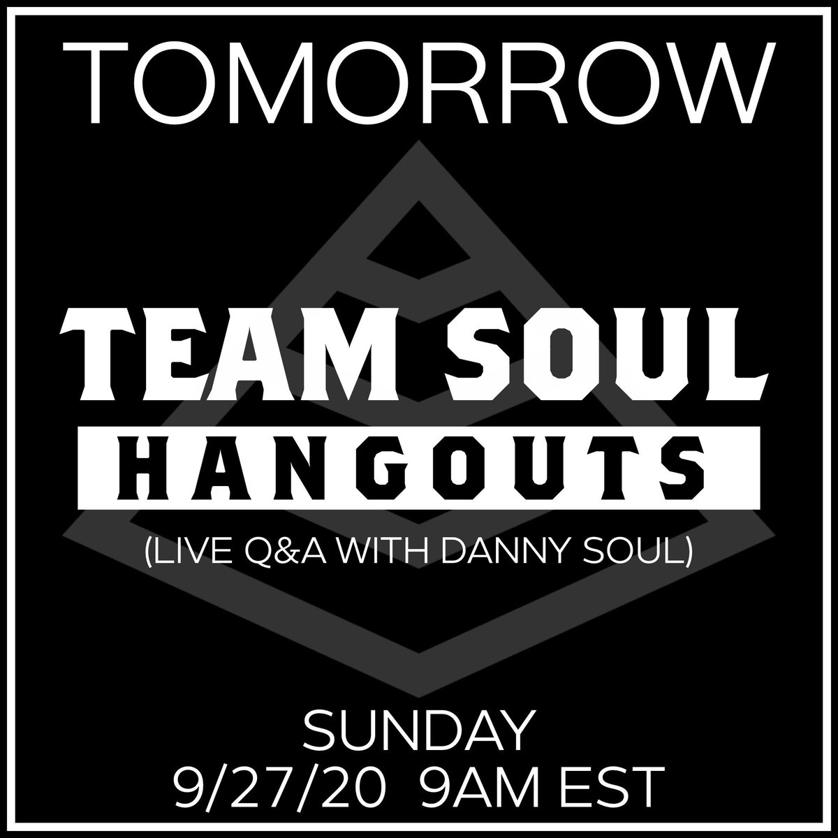 @teamsoulmiami  Hangouts (Live Q&A with Danny Soul)  Join us for our next @teamsoulmiami  IG Live Hangout Session TOMORROW (9/27/20) at 9am EST. #teamSOUL #RunWithUs #CrossFit https://t.co/eiiaDYskUy
