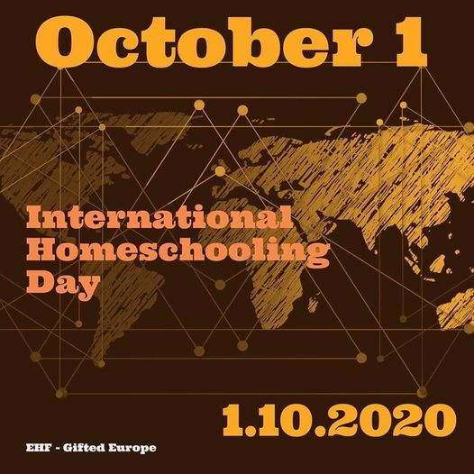 THURS, OCT 1, 2020 8 AM – 11:59 PM UTC+02 Int #Homeschooling Day 2020 Calling all #homeschoolers! Theme is #connect - more time-zones, the better, like a livestream from around the world! https://t.co/yyVbUsri1L  #homeschool #learningfromhome #learningisfun #gifted #2e #education https://t.co/MTarIWcIRp