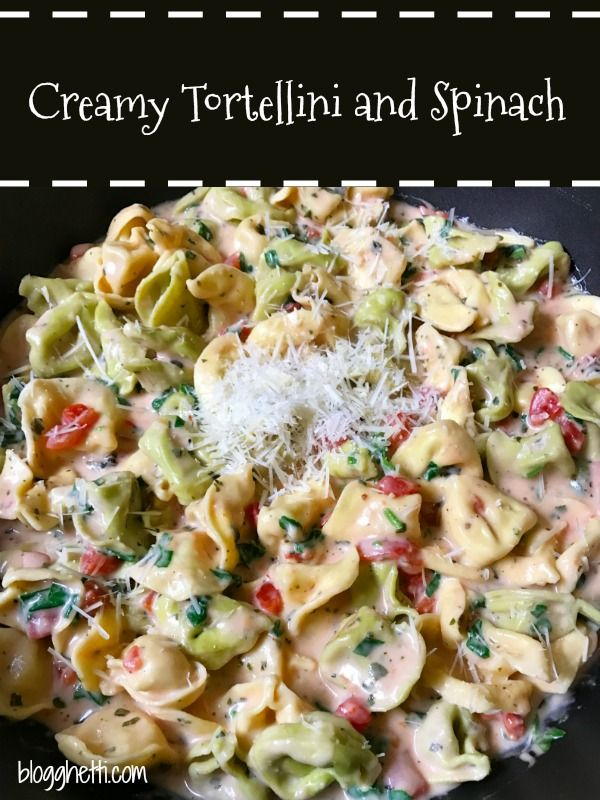 This family favorite Creamy Tortellini and Spinach meal is perfect for your Meatless Mondays. #pasta #tortellini #meatless #meatlessmonday https://t.co/7Nz8YdVTnO https://t.co/0HqtwK8U9y