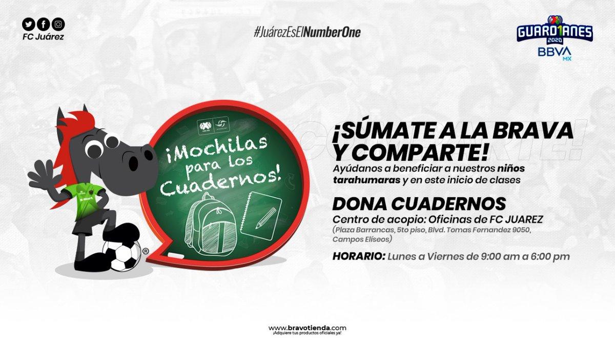#Guard1anes2020  ¡Apoyemos, Juárez sabe hacerlo!   Súmate a la iniciativa. Dona cuadernos y ayuda a la comunidad más BRAVA de México, la de Ciudad Juárez.  #JuárezEsElNumberOne https://t.co/IffAIAoTCm