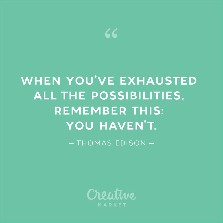 """""""When you've exhausted all the possibilities, remember this: you haven't."""" - Thomas Edison #Creativity4Ed #21stCenturySkills #education #VAis4Learners #VA5Cs #Return2LearnVA #quote https://t.co/drqif0KLIe"""