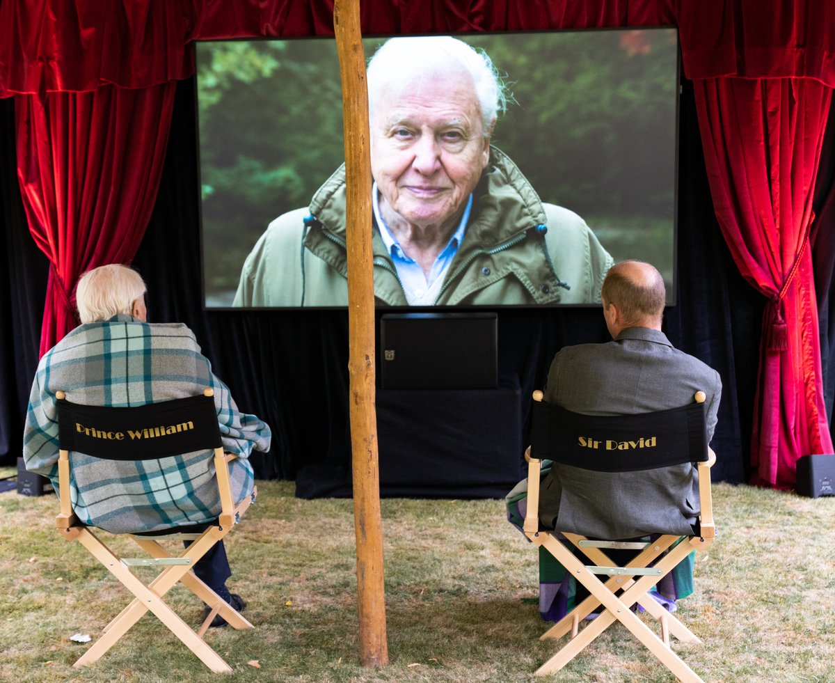 🎞️ Sir David Attenborough joined The Duke of Cambridge for a private outdoor screening of his upcoming film David Attenborough: A Life On Our Planet, at Kensington Palace.