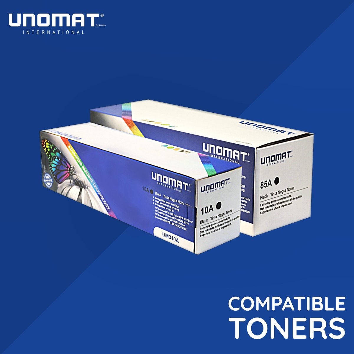 UNOMAT Compatible Toners are designed for sharp professional results.🖨  Guaranteed high-performance printing. Check our website to know more. . . #UnomatInternational #Dubai #Unomat #Batteries #Toner  #Asia #MiddleEast #Germany #Africa #trending #canon #hp #printing https://t.co/NpyZk98ob4