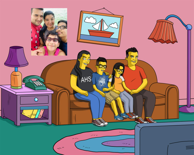 Family time💛  Send me your pictures here: https://t.co/Huuh5Zn20I  #simpsons #familyportrait https://t.co/Tiz2M3qvJS