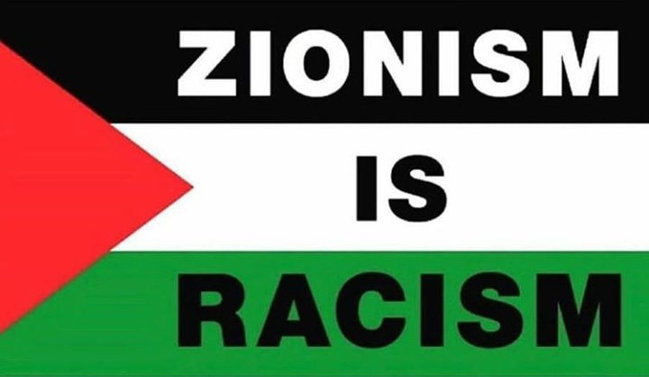 Zionism is a fabricated philosophy that encourages and condones racism, colonialism and apartheid. #PalestinianLivesMatter #BDS #ApartheidIsrael #boycottIsrael #BoycottDivestSanction #GENOCIDE #Israel https://t.co/a7J2qAyogG