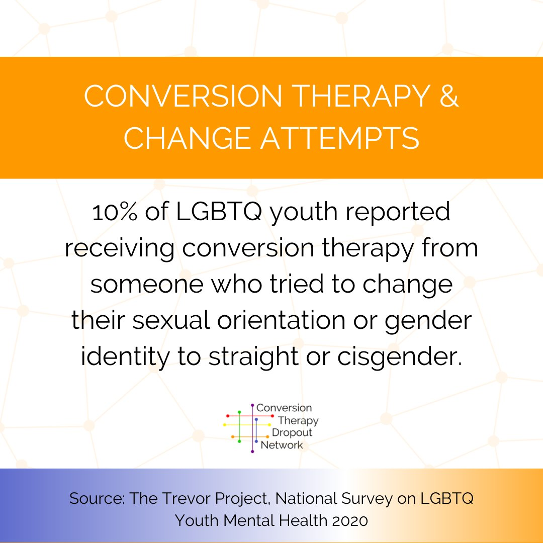 The new stats on conversion therapy from @TrevorProject give us a better look into what we are dealing with. There is no doubt that CT is still a huge issue for many youth.  Read more here: https://t.co/6R4nxxDojk #TreveorProject #TheTrevorProject #LGBTQ #Youth #ConversionTherapy https://t.co/oIsTdvPcMc