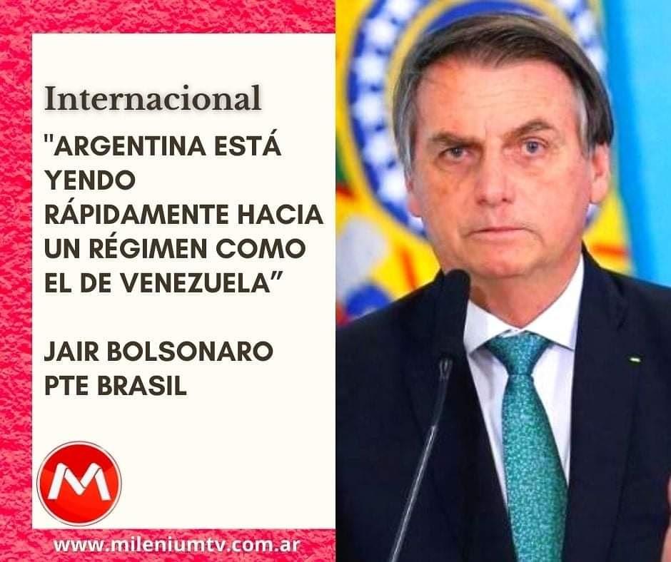 """💠En un mensaje que brindó en la plataforma Facebook Live, el mandatario del vecino país dijo que teme que en la Argentina ocurra una situación """"similar a la de Roraima"""", en referencia al estado limítrofe de Brasil con Venezuela. https://t.co/5UiEZoAGnk #Bolsonaro #Argentina https://t.co/BxmJsAtmVX"""