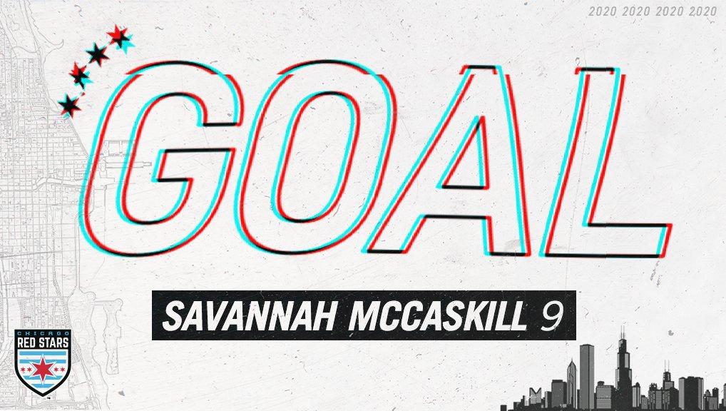 72 - GOAL CHICAGO! Savannah McCaskills shot finds the back of the net off of Sarah Luebberts cross! 1-0 | #CHIvWAS