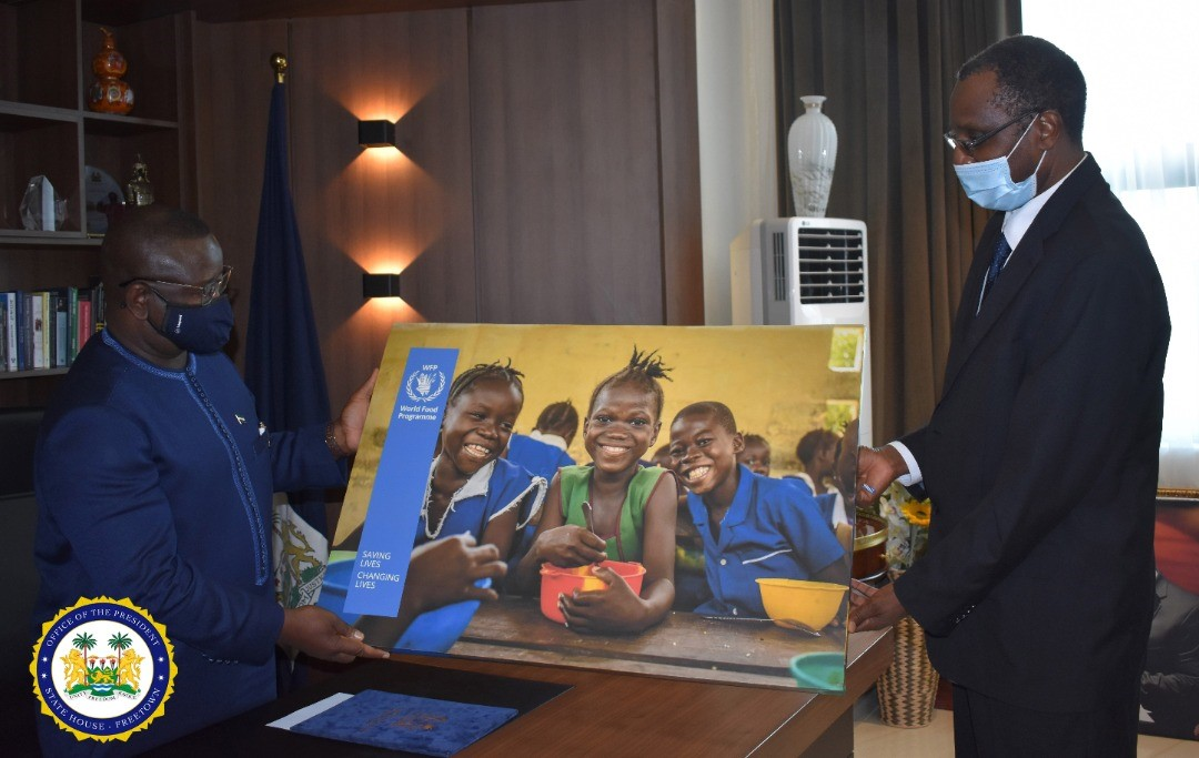 The CountryRep #WFP, Dr Housainou Taal bid farewell to SierraLeone's President Julius Maada Bio as he proceeds to another mission in the East African nation of Burundi.   Dr Taal contributed to the country's socio-economic development especially in agriculture, education &health. https://t.co/4SxUA6RPLA