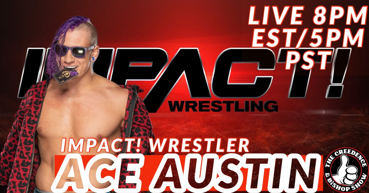 Monday night just got interesting again. @The_Ace_Austin  from @IMPACTWRESTLING joins us for the first time. Don't miss this rising star.#ProWrestling #innovation #MondayNight #interview #livestreaming #wrestler #wrestling #IMPACTonAXSTV https://t.co/a7lar9leDa