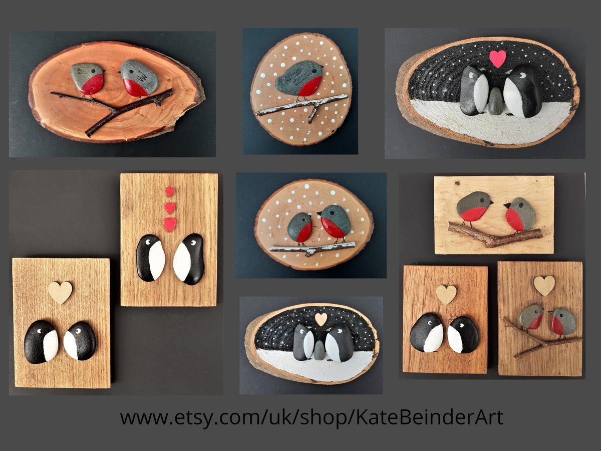 Good evening #NetworkWithThrive Its time to ditch the plastic! These wood slices/plaques are made using reclaimed timber and pebbles. Ready to hang. Great Christmas decorations/gifts. #Ecofriendly https://t.co/cn79bH0hbs #handmade #CWordSeptember #robins #penguins #gifts https://t.co/Hxti36zCTa