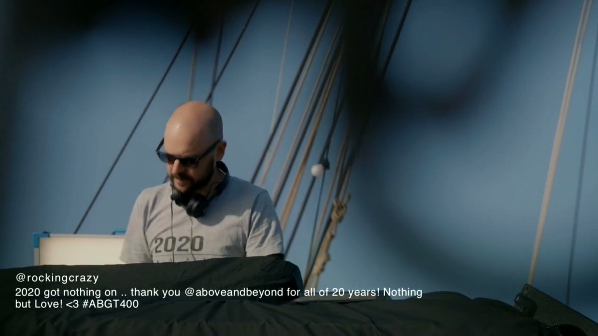 #NowPlaying 🔊 🎶 #Watching @aboveandbeyond presents Above & Beyond Group Therapy Episode 400 #ABGT400  (20 Years Of @Anjunabeats )  https://t.co/yiOYAXXTMy  #ABGT400 #AboveAndBeyond #AnjunaFamily #AnjunaBeats  #trance #progressive #vocaltrance #puretrance  #trancefamily https://t.co/c1bDeN8oT3
