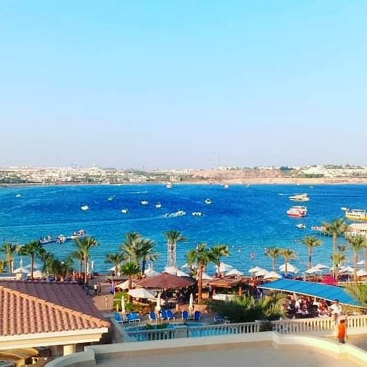When you wake up on a view like this how the rest of the day will be? 😉😉😉  Book your perfect vacation now on Tel: +201207272395 Email: res@marinasharm.com   #marinasharmhotel #redsea #sharmelsheikh #amazingbeach #neamabay #amazingview https://t.co/zUw4TgU4KN