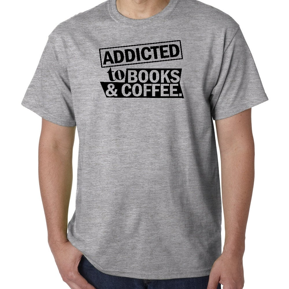 #etsy shop: Addicted to Books and Coffee Reader Librarian Humor Custom Unisex Premium Short Sleeve T-shirt Tee Top Gift Small - 2XL Free Shipping https://t.co/YewSAkMNBs #shortsleeve #crew #phrasesaying #giftsforreaders #marielynntshirt #freeshipping #tshirt #tee https://t.co/NXYBvHSccx