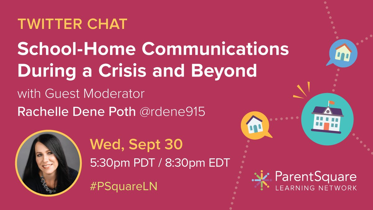 Join in the #PSquareLN chat tonight, invite your PLN to join in this important conversation #k12 #education #edchat #suptchat #educoach #OrEdchat @ParentSquare #betheone #edumentor #teachbetter #distancelearning https://t.co/BKjBZ4sokv
