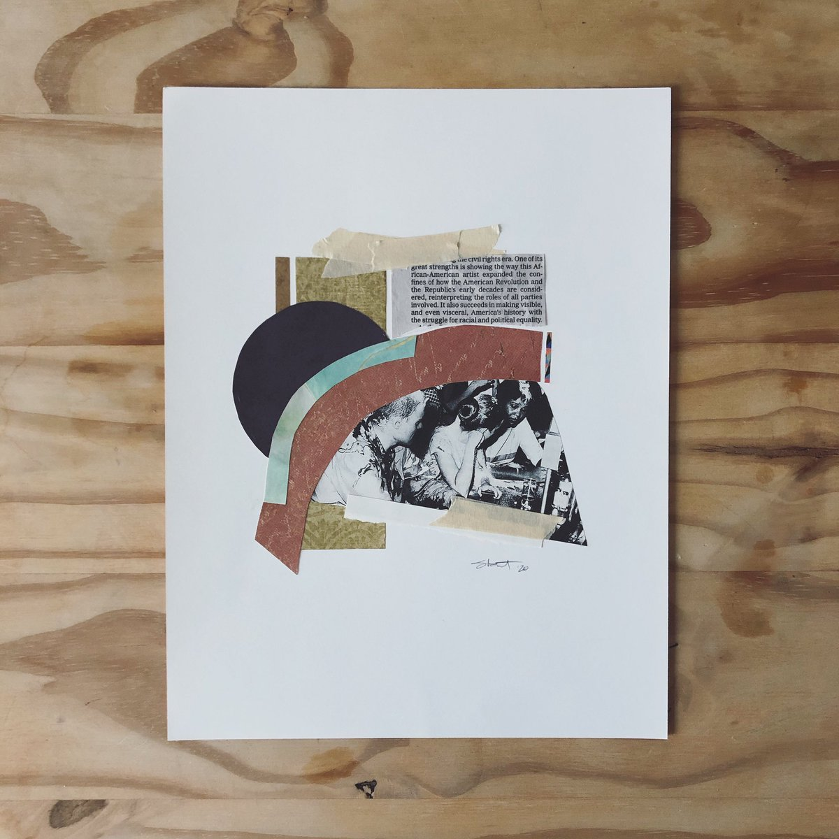Sit | In  #collage #artoftheday #quarantineart #scrapbookpaper #abstract #abstractart #newspaper #sitin #civildisobedience #resist #revolution #civilrights https://t.co/VTPMZFfw43