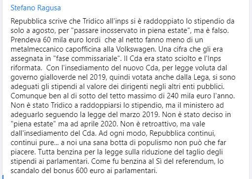 #Tridico