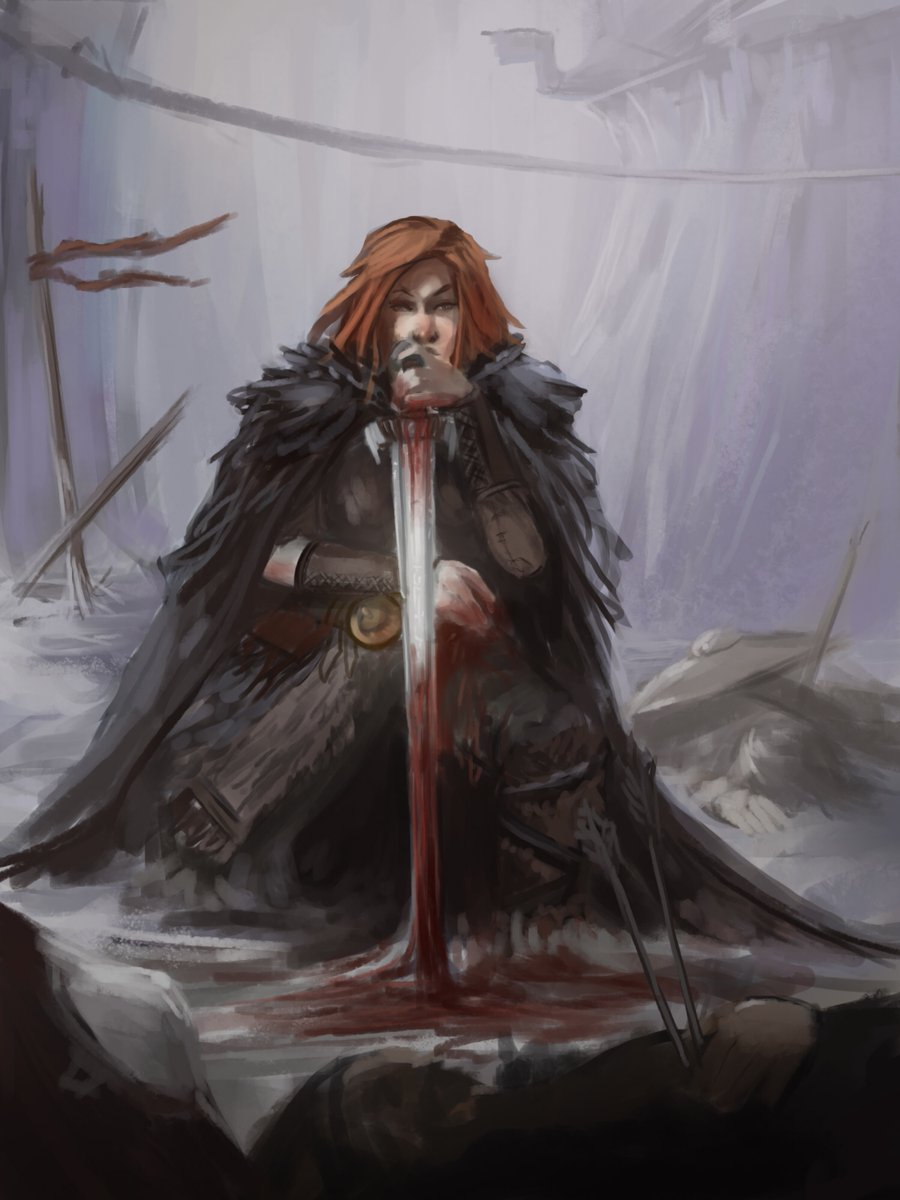 Late to battle & a few enemies left to kill but praying for forgiveness & guidance to know if he should follow the enemies and attempt to delay until reinforcements arrive for his king #art #dnd #rpg #rpgHook #npc  Aftermath by AxiDaos on @DeviantArt https://t.co/UgSiKHdgCt https://t.co/zeUsco4CqL