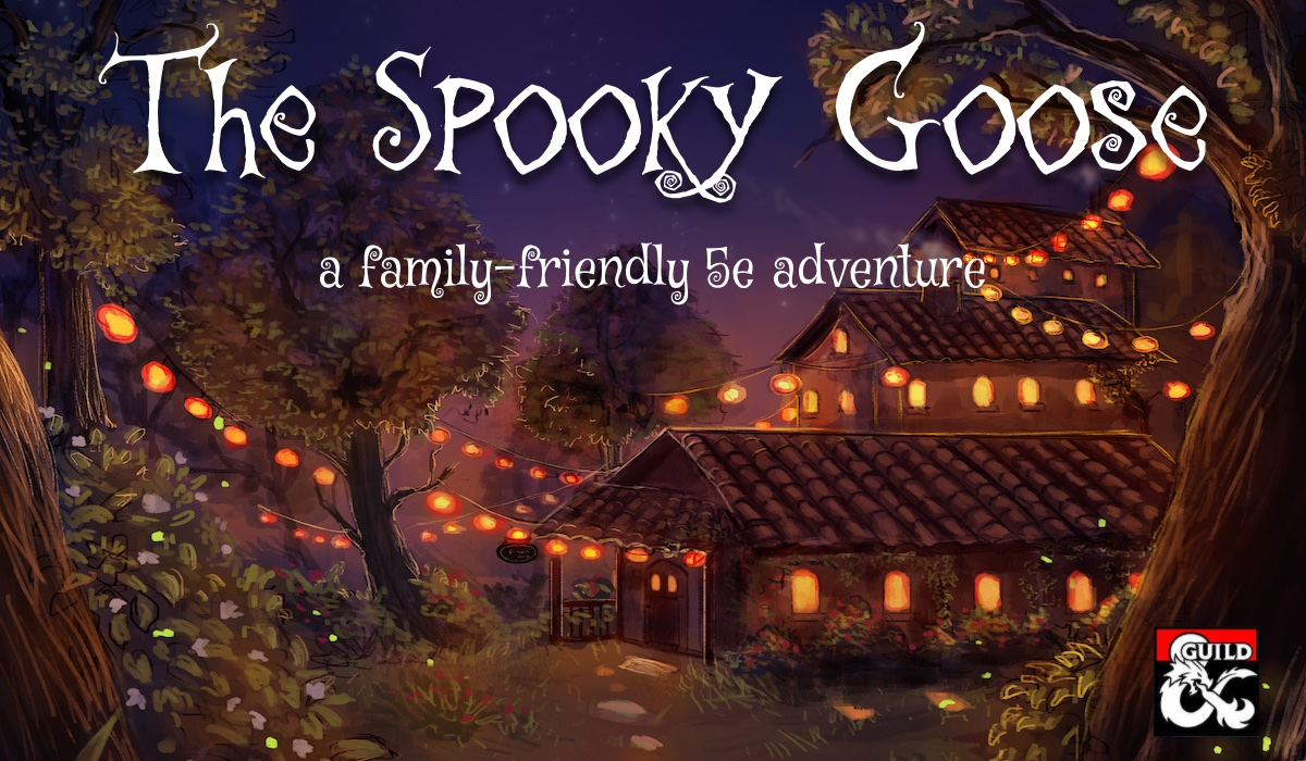 Looking for a #DnD 5e adventure to play with the kids this spooky season? My newest title for characters level 1-4 is now on @dms_guild! The Spooky Goose takes them to the little village of Ghostbrook: https://t.co/fhnqF9K78W https://t.co/f1lyJAyrqc