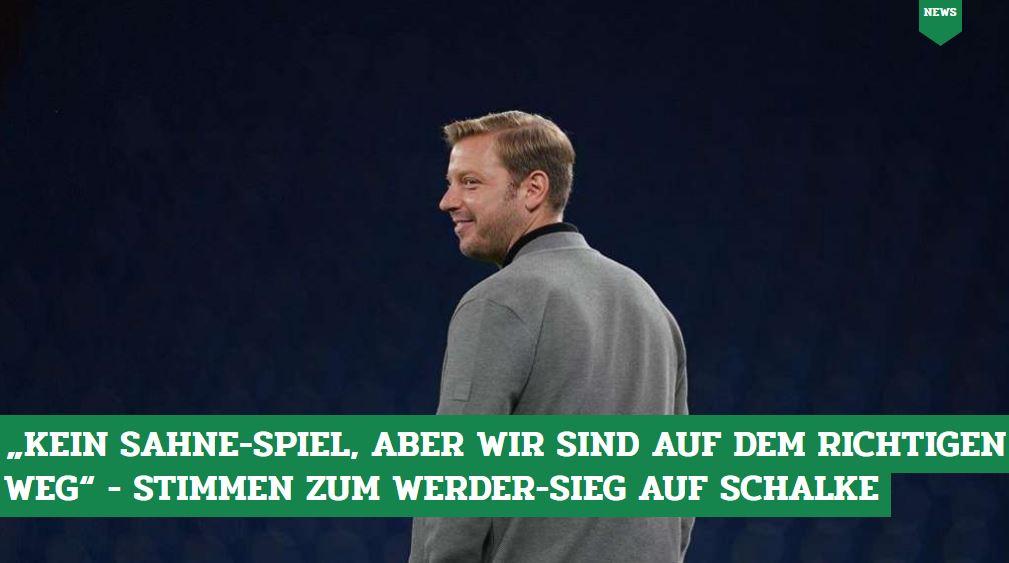 Die Stimmen zum #Werder-Sieg gegen #Schalke von Florian #Kohfeldt, Niclas #Füllkrug, David #Wagner und Co. 👉 https://t.co/vJ6VklCEQU  #s04svw #bundesliga #s04 https://t.co/Izw7Dl7T43