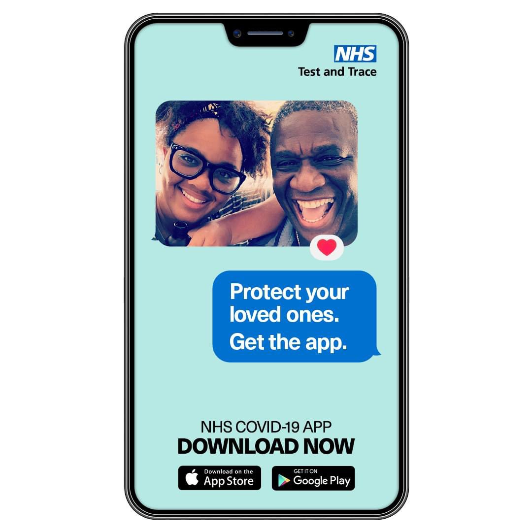 DOWNLOAD NOW: The NHS COVID-19 App is now available from the App Store/Google Play Store.  Download it now to protect yourself and your loved ones.  Android: https://t.co/h08X2Mn55k… iPhone: https://t.co/N7olexpmP8… https://t.co/YwSVt1Dww2