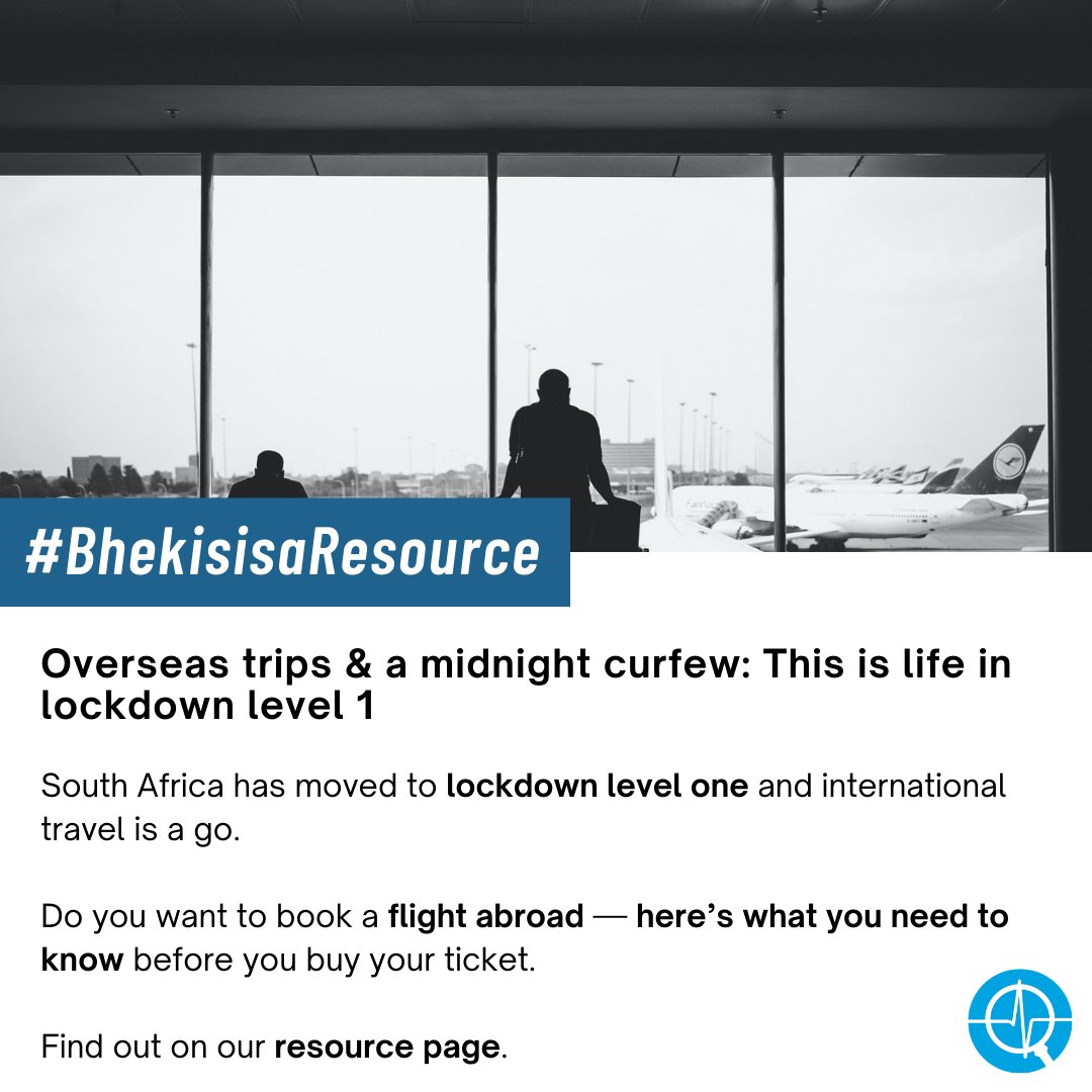 SA has moved to #Level1Lockdown but face masks and curfews are sticking around. Read the new regulations on our resource page. #BhekisisaResource https://t.co/4qE9Inaqme https://t.co/IJGTiHGEbR