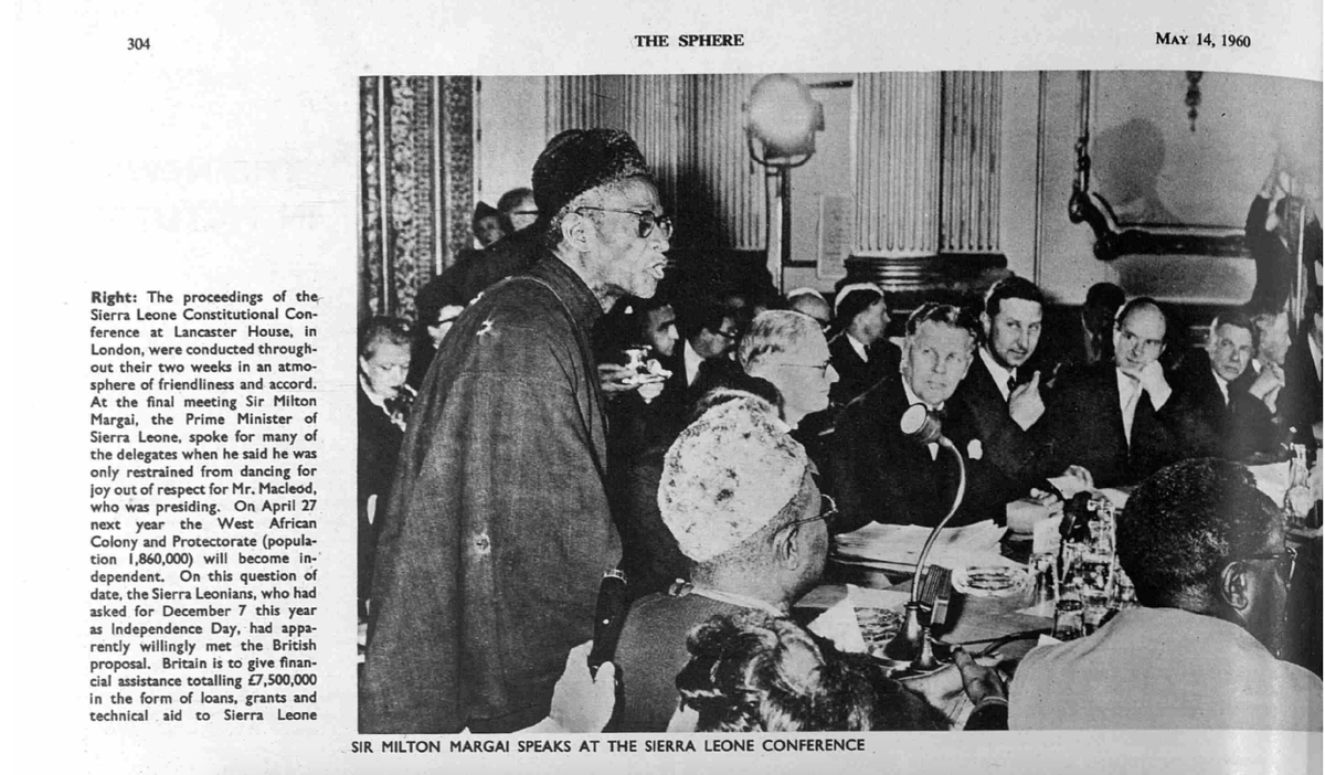 #SierraLeone First PM, Sir Milton Margai speaks at the 1960 #SierraLeone pre-Independence Conference in #London https://t.co/lgKfs9Ct1C