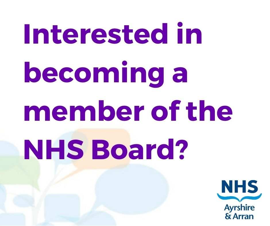 Are you interested in a challenging and rewarding role which will have a lasting impact on the delivery of healthcare across Ayrshire and Arran?  If so, becoming a non-executive member of Ayrshire & Arran NHS Board could be just for you.  Find out more ➡️ https://t.co/Te4aAiYy2X https://t.co/nDBuynvETf
