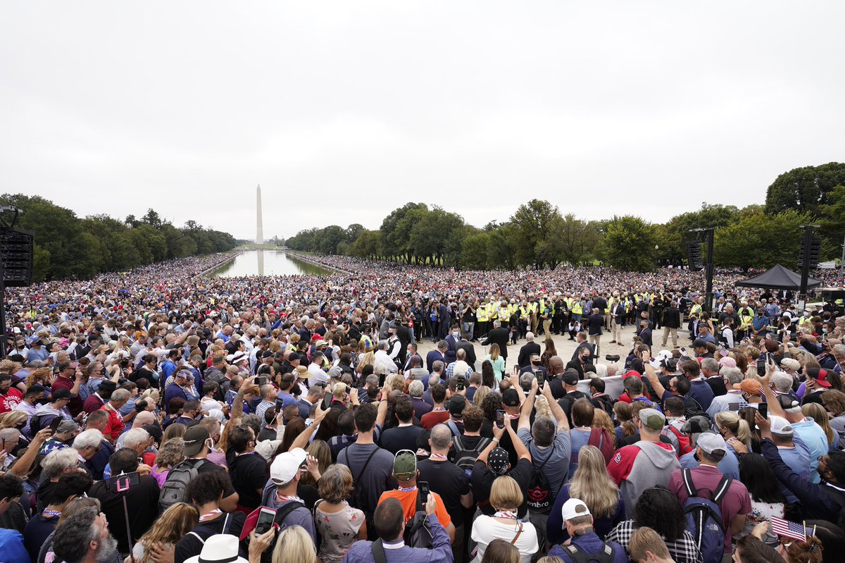 It was amazing to see the crowd of people who came to Washington, D.C., from all across the country to pray for our nation and our leaders.