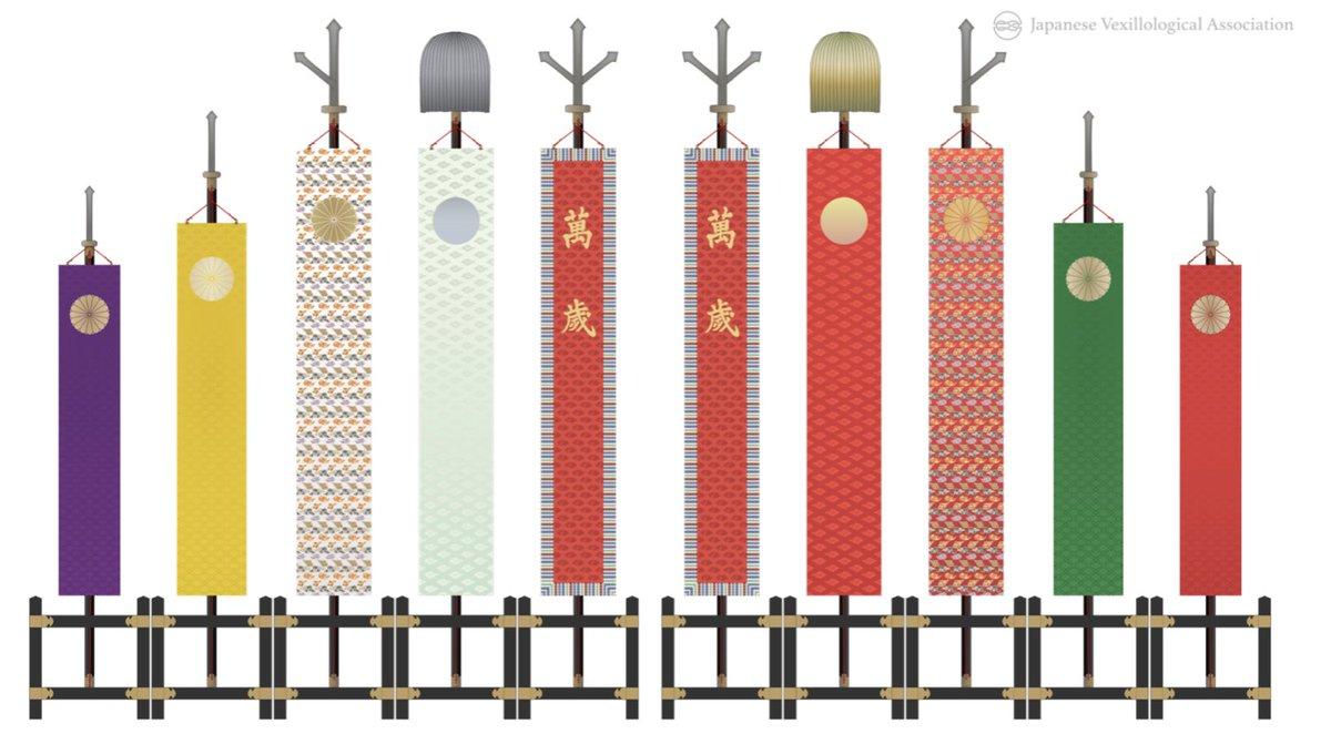 @cicada3301_kig それ、天皇即位式に出てましたね。 「日像纛旛」(にっしょうとうばん)というのだそうです。本来的には、銀丸の「月像纛旛」とセットのようですね。 即位礼正殿の儀で掲げられる旛類 - 日本旗章学協会 j-flags-java.jimdofree.com/%E6%97%A5%E6%9… 即位礼正殿の儀について(首相官邸) kantei.go.jp/jp/singi/gishi…