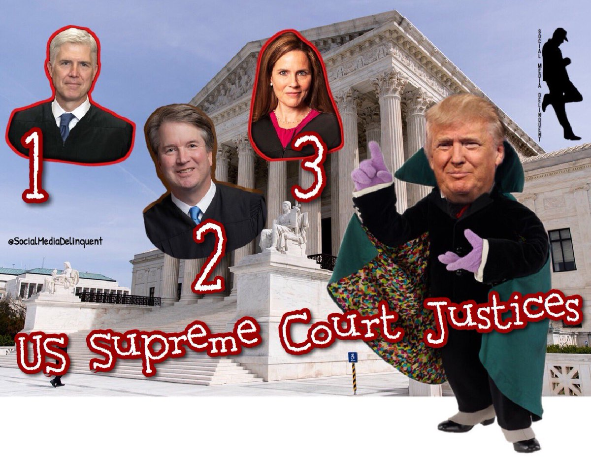 🇺🇸@realDonaldTrump names #AmyConeyBarrett as his nominee for the #SCOTUS! This is now his third...so far🤨🇺🇸 https://t.co/Mx5KCUS2SD