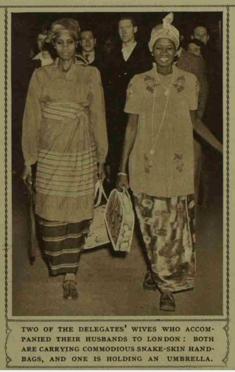#SierraLeone #Nigeria #Ghana the Ella Koblo Gulama photos from the 1948 Conference proved very popular; so, here's the only other image I have of her from that conference (she's on the right. I don't have a name of the other lady. Here's an excerpt and the full page. https://t.co/Le0Yfdsf2x