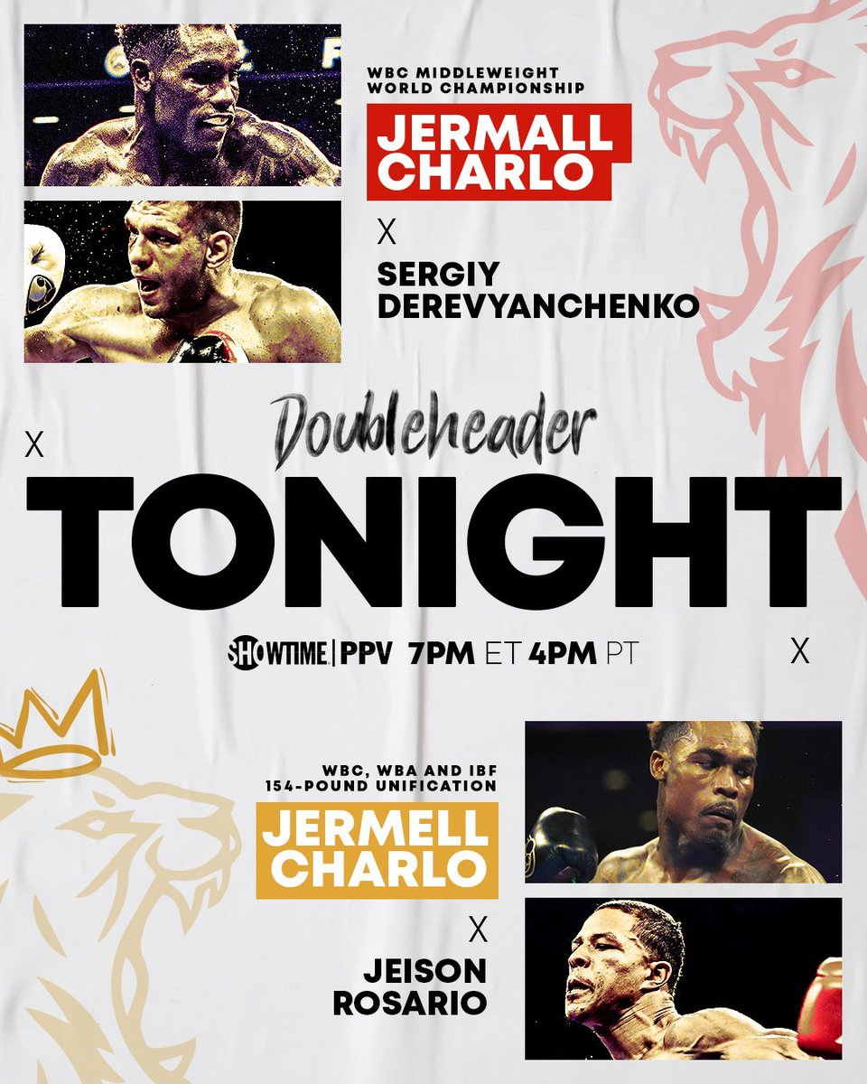 Don't forget to tune into tonight's massive PPV event with multiple championship fights. Among them will be a unification match at 154, a title defense at 160 and at super bantamweight. #Theboxingsource #Showtime https://t.co/FFZ5UyYvqS