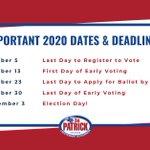 Image for the Tweet beginning: The voter registration deadline is