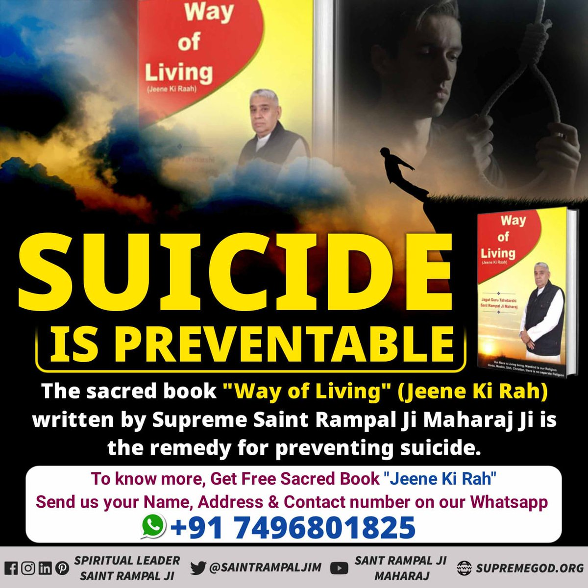 #Solution_To_Suicide The life after committing suicide is more painful than this life. Saint Rampal Ji Maharaj says that committing suicide and murder are both great and gravecrimes. Such a person is punished severely in hell. Your Savior Saint Rampal Ji