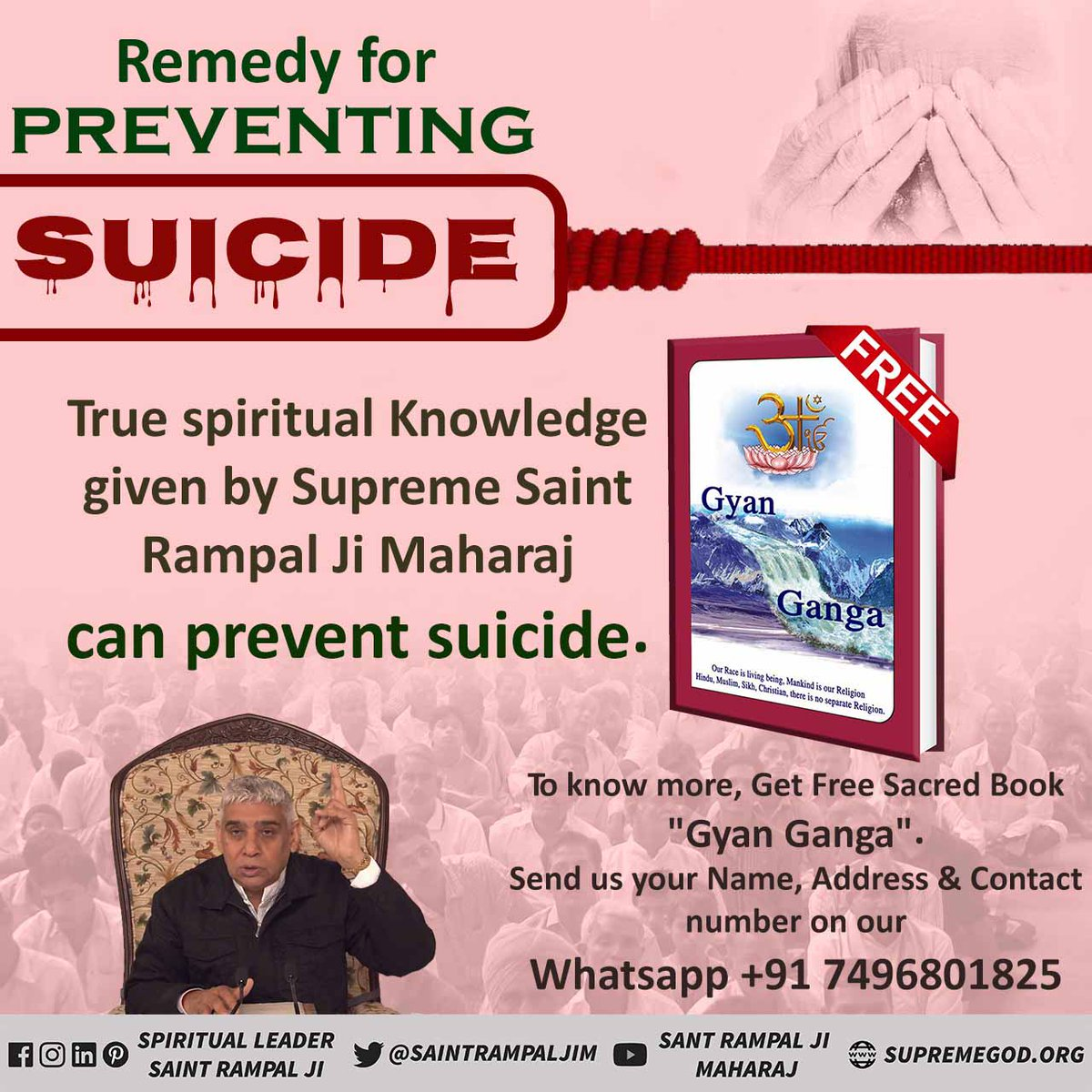 #Solution_To_Suicide Its complete stupidity to destroy the precious human life which is even desired by deities. It's only human life in which we can rightly worship supreme lord and attain ultimate peace and salvation along with all happiness of this world as well.