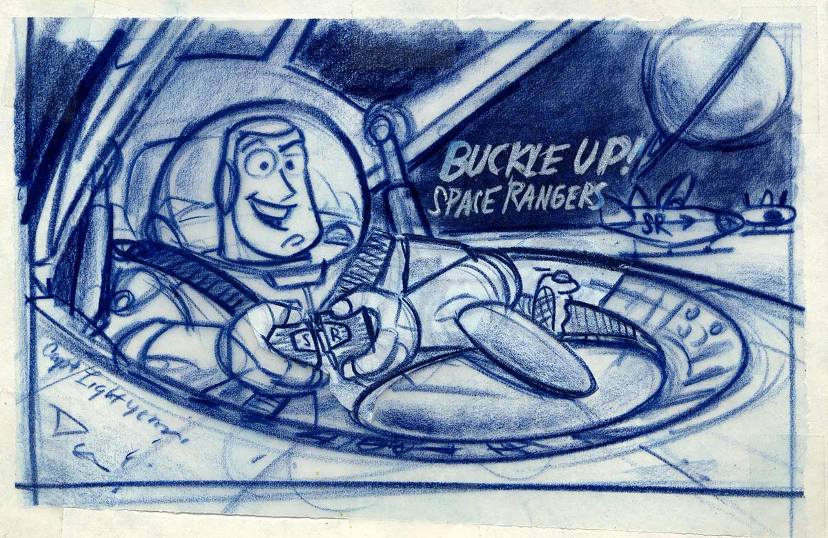 Saddle up, Space Rangers! Play along as we live tweet #ToyStory on @DisneyPlus starting now! #PixarFest #DisneyPlus (Concept art from Toy Story) https://t.co/nsUul52jNf