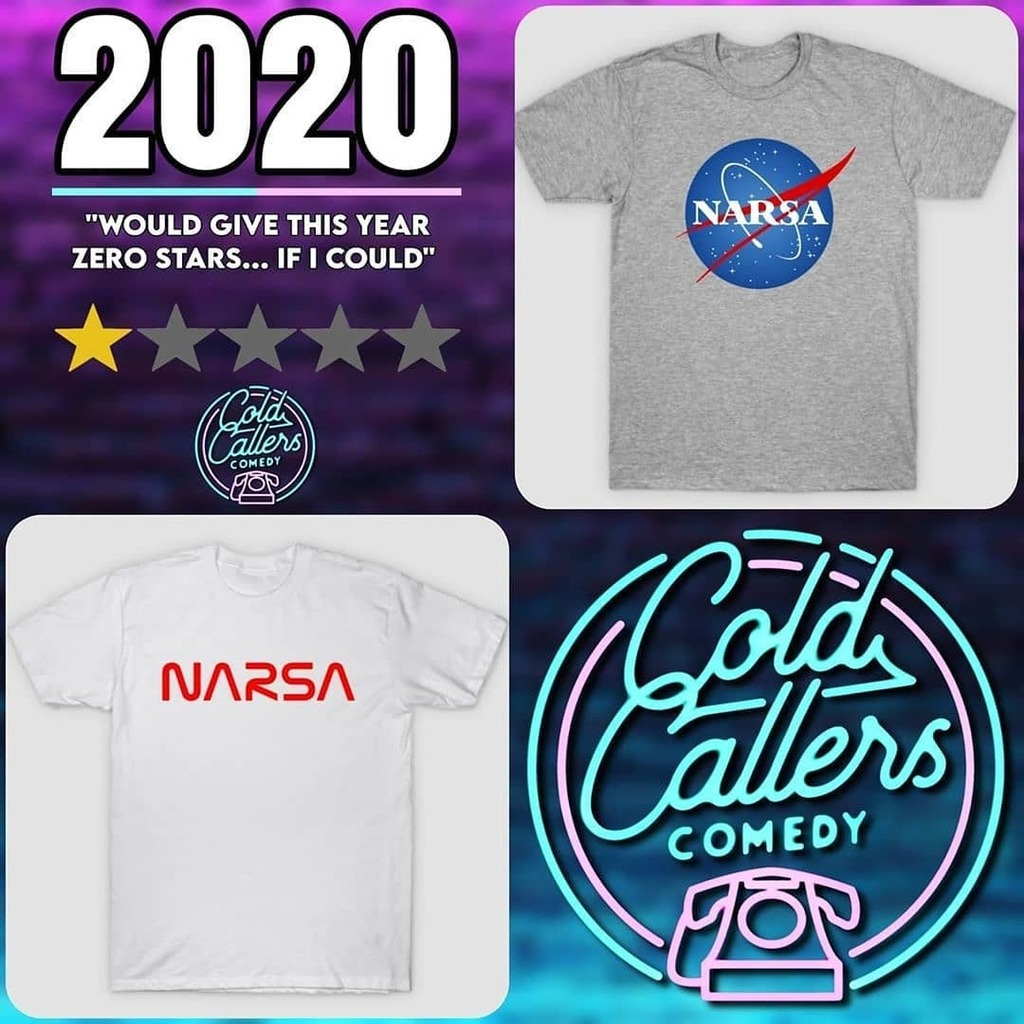 "#Repost @coldcallers_comedy • • • • • • In honour of the fact that 2020 sucks and @paulrich.actor can't say ""NASA"", we have some new designs in our store!  https://t.co/4ypdP7bbuI  #podcast #comedypodcast #comedy #podernfamily #britpodscene #podnation #PodcastHQ #merch … https://t.co/nxKMGqxTXA"