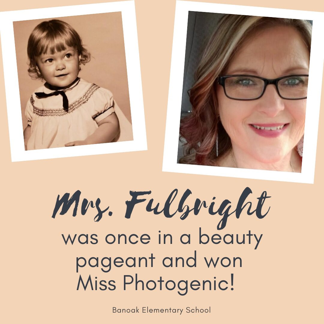 Did you know that Mrs. Fulbright was once in a beauty pageant and won Miss Photogenic?   We are very blessed to have Mrs. Fulbright at Banoak! She's a phenomenal teacher assistant and bus driver! Check back next Friday for the next #FlashbackFriday https://t.co/X0eefsegHO