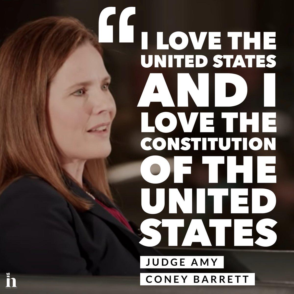 Amy Coney Barrett loves the United States of America! 🇺🇸 #AmyConeyBarrett https://t.co/eCrlYw2Wg9