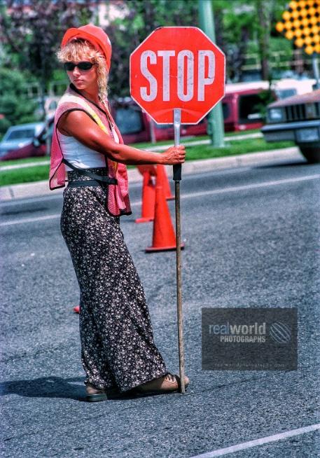 Nineties street flagger. Kelowna, British Columbia, Canada. #photojournalism #world #women #nineties #kelowna #britishcolumbia #travelphotography #garymoore #realworldtelevision #documentary #garymoorephotography #denmark #realworldphotographs #nikon #stock #images #woman #BC https://t.co/j7bYSemFwv