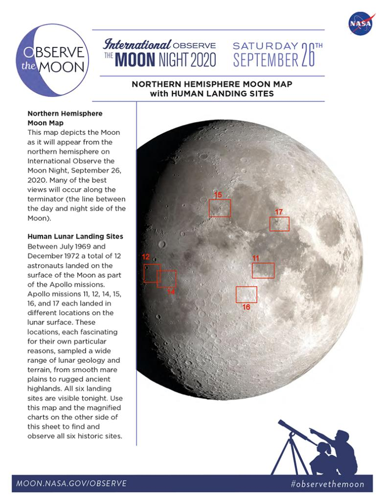 Did you know you can view all six Apollo landing sites tonight from your window? Grab a telescope and this handy @NASAMoon map to #ObserveTheMoon: go.nasa.gov/3i8ZpIB