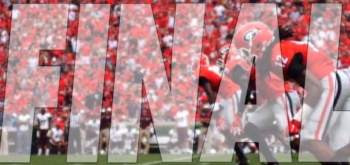 Arkansas stays winless in the SEC since 2017. Dawgs start slow but finish with a flourish in the season opener.  37-10 Georgia. https://t.co/CFoxa86ak7