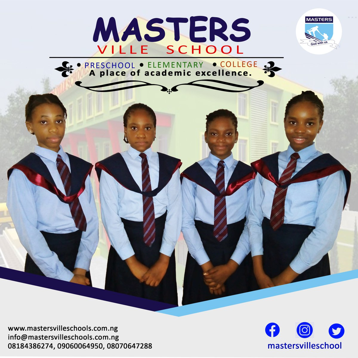 Masters Ville School brings academic excellence to your door step. #mastersvilleschool #elementaryschool #preschool #college #ajaoestate #schoolsinlagos #schoolsinnigeria #privateschoolsinlagos https://t.co/8UlYKTBtzs