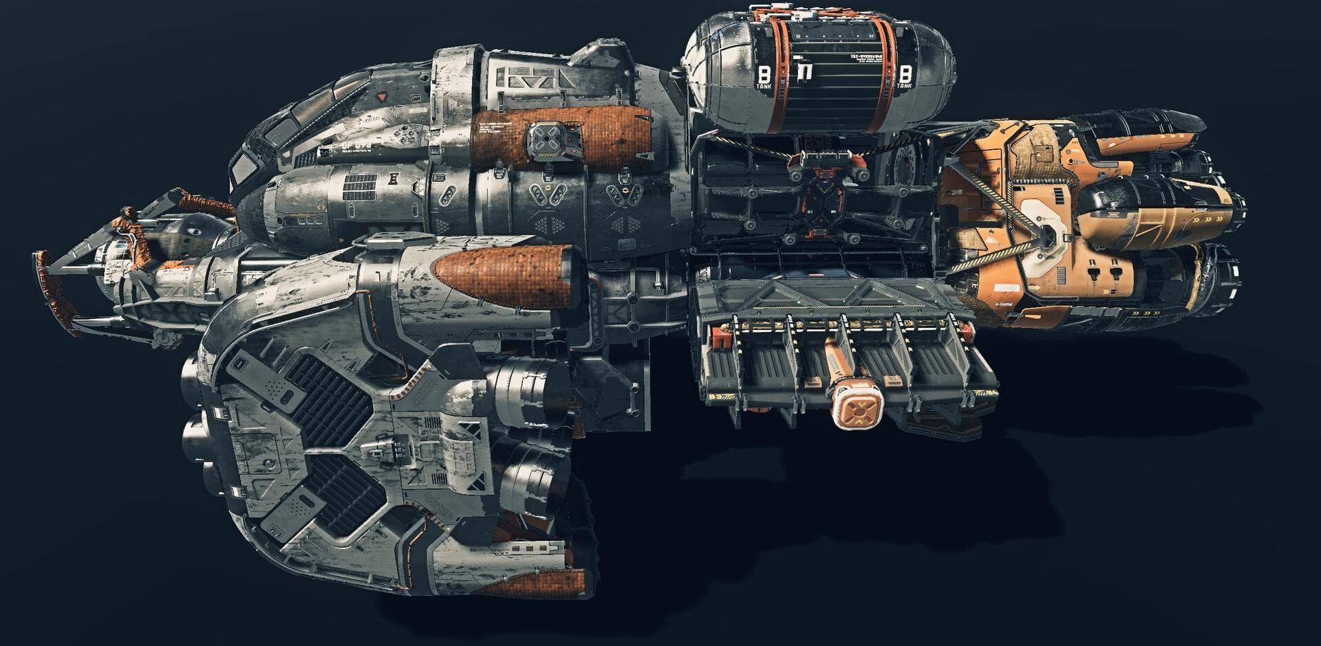 Starfield wyciek - statek
