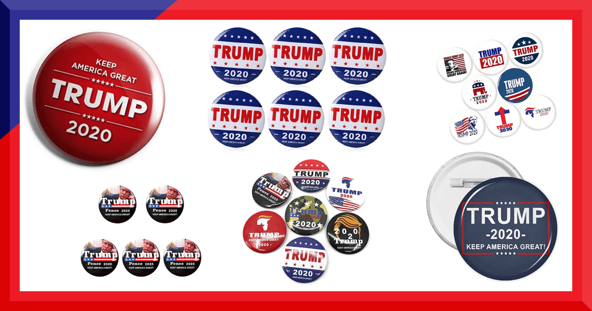 🤩 🇺🇸 Check out these brilliant Pin Badges and Button Pins, all available to buy today via https://t.co/l4Ogq07j7Y⁠ ⁠ 👉 https://t.co/NC7DHkRY2N #sleepyjoe #kag #trumpsupporters #keepamericagreat #americafirst #2020 #election2020 #trump2020 #democratsfortrump #trumptrain https://t.co/uOW5x2imgH