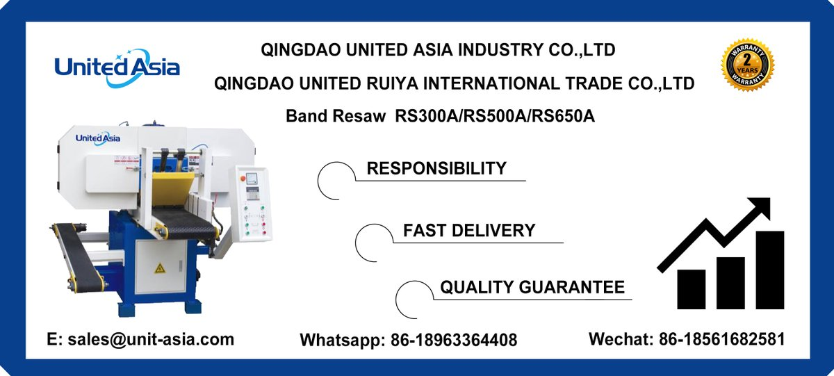 RS300A RS500A RS650A band resaw from United Asia Industry  #machinery #woodworking #saw #band saw #woodworking machine #woodworking machinery #band resaw https://t.co/HWcpucpnqf