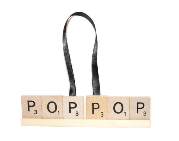 Christmas Ornament, Pop Pop, Pop Pop Ornament, https://t.co/lDpVakQwKh #scrabble #uncle #poppop #ornament #gift #dad #papa #christmas #pops https://t.co/LoLMPKw8rR