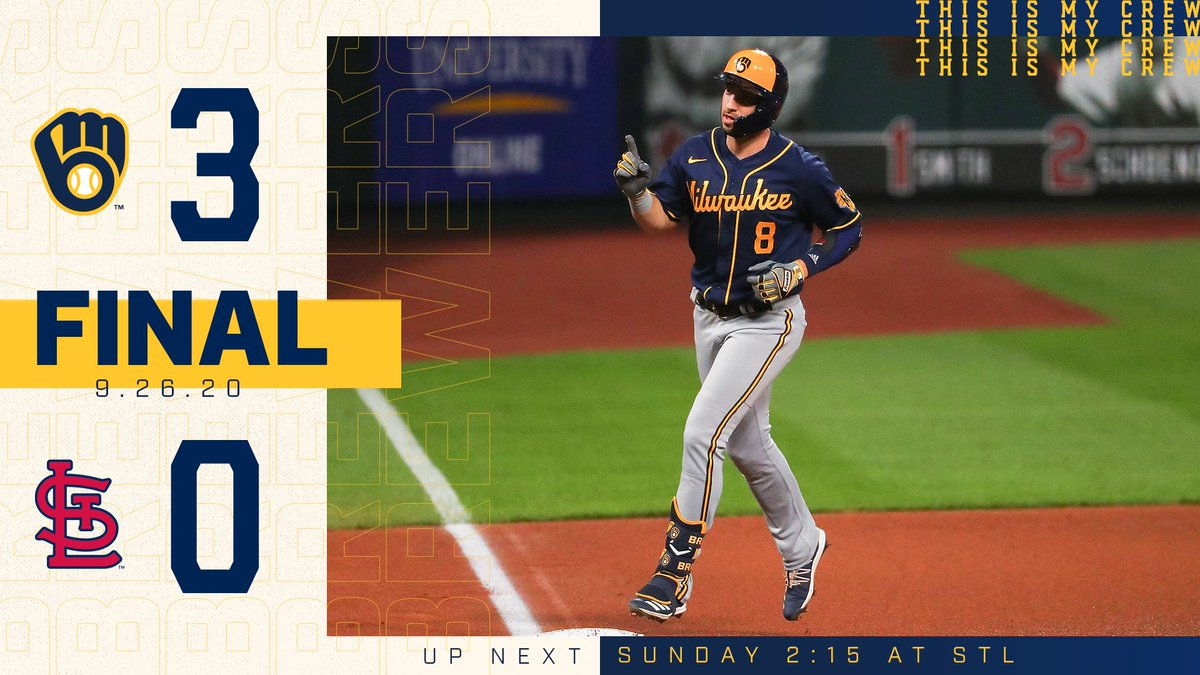 Played the Cards right tonight.  It all comes down to the final regular season game, tomorrow at 2:15 p.m. CT.  #ThisIsMyCrew https://t.co/QRpwFbreO0