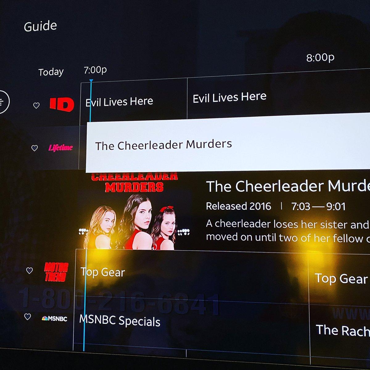 Here we goooooo #thecheerleadermurders @lifetimetv #lifetime #cheer https://t.co/5OHYnRHdcW